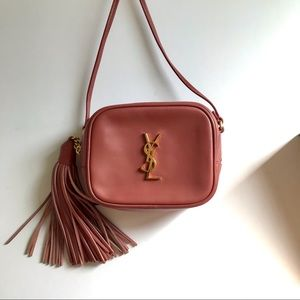 YSL Saint Laurent monogram dusty rose blogger bag